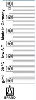 Densímetro Standard - Escala 0.001g/cm3 - Longitud 160mm