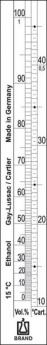 Alcoholómetro según Gay-Lussac + Cartier