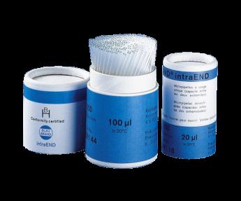 Micropipetas Blaubrand IntraEND Desechables - Certificadas, con Aforo